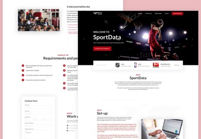 Sport Data Journalist microsite